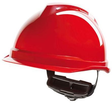 MSA V-Gard 520 Veiligheidshelm Met Fas-Trac III Binnenwerk Rood