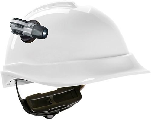 MSA V-Gard 200 Veiligheidshelm Met Fas-Trac III Binnenwerk En Lamphouder Wit