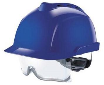 MSA V-Gard 930 Geventileerde Veiligheidshelm Blauw