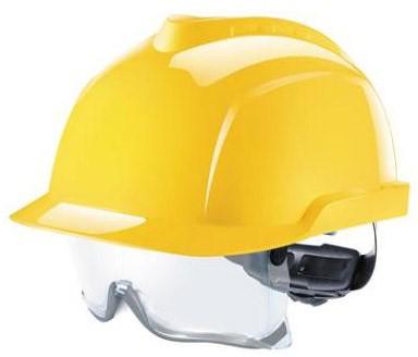 MSA V-Gard 930 Ongeventileerde Veiligheidshelm Geel