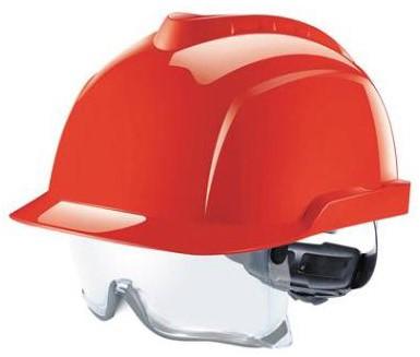MSA V-Gard 930 Ongeventileerde Veiligheidshelm Rood