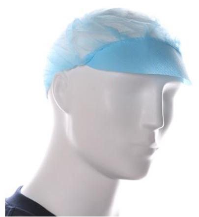 Baret Model Haarnet Met Klep Blauw