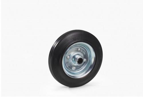 Massief rubber band 400 x 80 mm Stalen velg - verzinkt