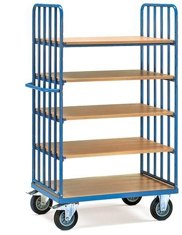 Etagewagen 8353 - 5 etages Laadvlak 1.200 x 800 mm (met kopwanden)