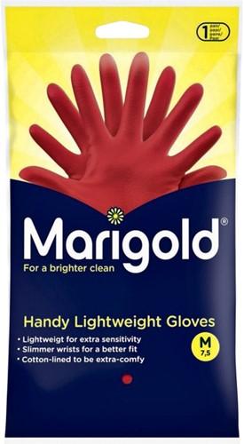 Huishoudhandschoen Marigold Handy rood medium