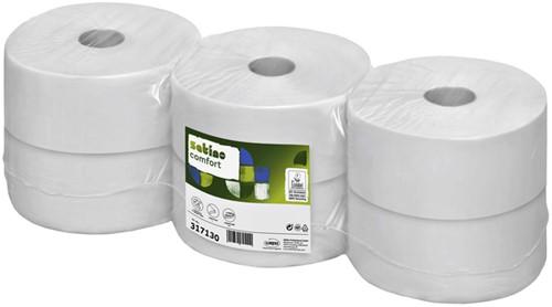 Toiletpapier Satino/Wepa 2-laags Jumborol 66mmx380m wit 6rollen