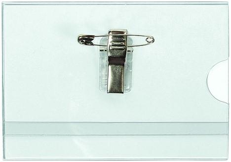 Badge Quantore met clip en speld 60x90mm