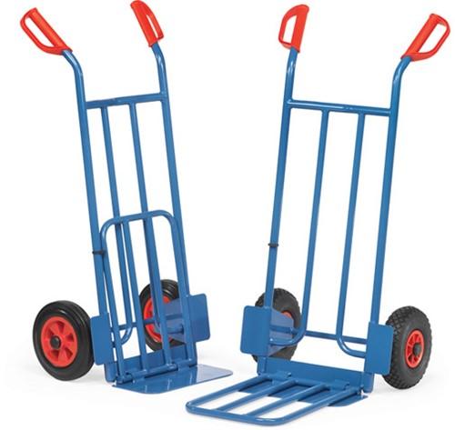 steekwagen,cap 250 kg, klapbare schep 150/500 x 400/3330 mm