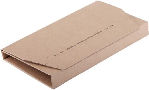 Wikkelverpakking CleverPack A5 +zelfkl strip bruin 25stuks
