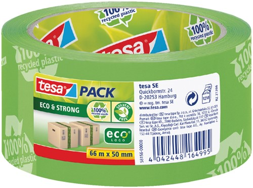 Verpakkingstape Tesa 50mmx66m Eco print groen