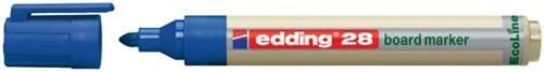 Viltstift edding 28 whiteboard Eco rond blauw 1.5-3mm