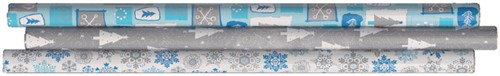Inpakpapier Design Group 200x70cm brilliance assorti