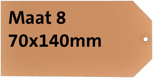 Label karton nr8 200gr 70x140mm chamois 1000stuks