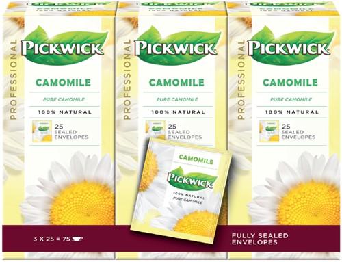 Thee Pickwick kamille 25 zakjes van 1.5gr