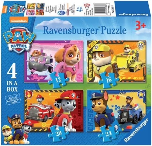 Puzzel Ravensburger Paw Patrol 4x puzzels 12+16+20+24 st