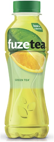 Frisdrank FuzeTea Green petfles 0.40l