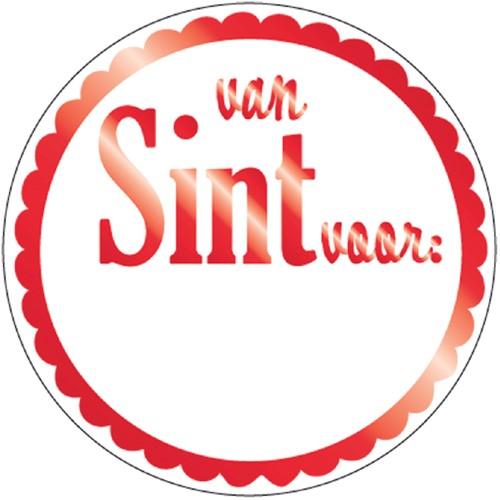 Stickers van Sint voor rond rood/wit doos à 1000 stuks
