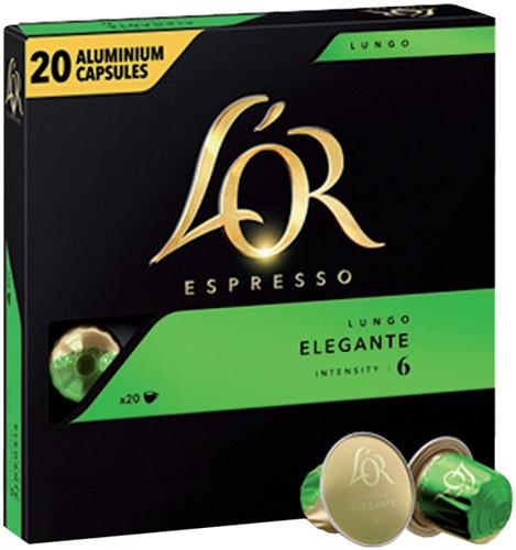 Koffiecups Douwe Egberts L'Or Espresso Elegante 20 stuks