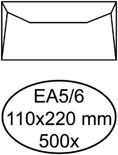 Envelop Hermes bank EA5/6 110x220mm wit 500stuks