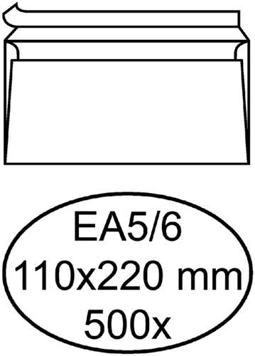 Envelop Hermes bank EA5/6 110x220mm zelfklevend wit 500stuks