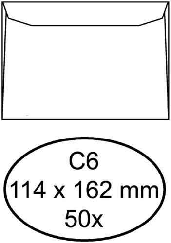 Envelop Quantore bank C6 114x162mm wit 50stuks