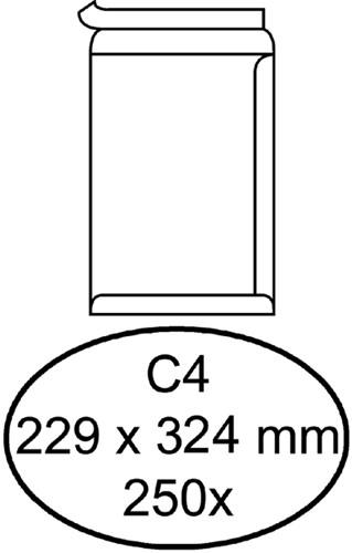 Envelop Hermes akte C4 229x324mm zelfklevend wit 250stuks