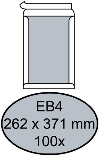 Envelop Quantore bordrug EB4 262x371mm zelfkl. wit 100stuks